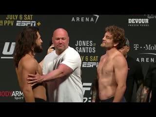 Взвешивание UFC 239: Аскрен vs Масвидаль