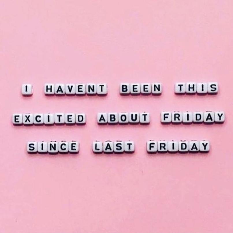 Я так не радовался пятнице аж с прошлой пятницы
