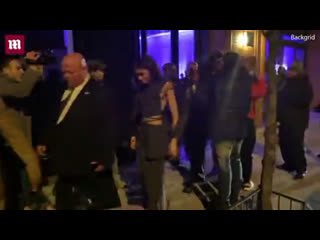 Зендая и Джейкоб Элорди покидают ресторан в Нью-Йорке