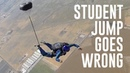 Friday Freakout: Skydive Student's Parachute Doesn't Open, Wrapped Around Foot!