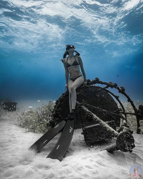 Подводная съемка от талантливого фотограф, а также профессионального фридайвера Джона Ковица