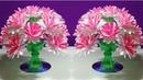 Easy Beautiful paper flower Empty plastic bottle vase making crafte Water bottle Recycle flower