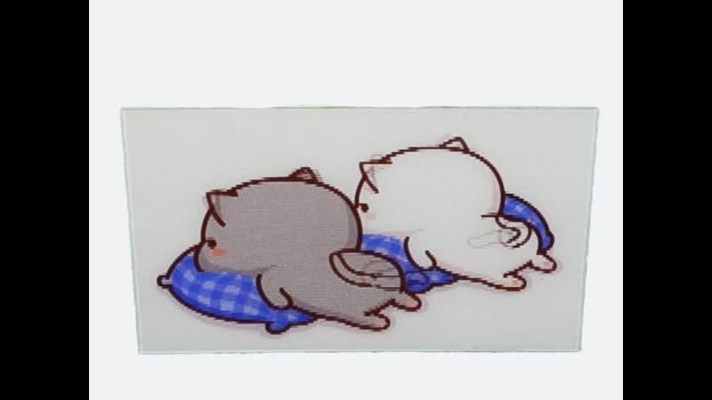 мимимишки - Котики на подушке - наклейки