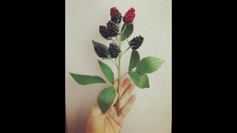 Bellas CraftHow to make Blackberries branch by paperHướng dẫn làm cành mâm xôi đen