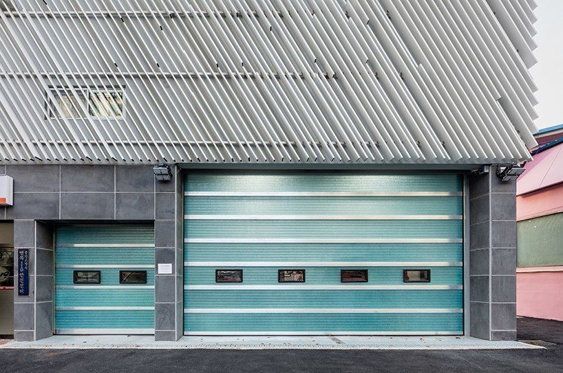 yong ju lee's louvered fire station in korea suggests new identity for public buildings