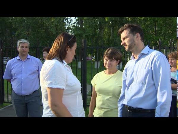 Виктор Неволин провел встречу с жителями поселка Электроизолятор