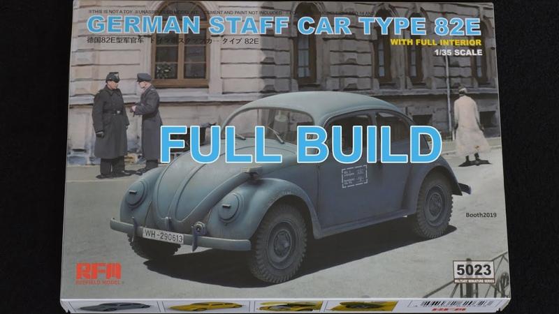 Ryefield model's 1 35 German staff car type 82E Full Build