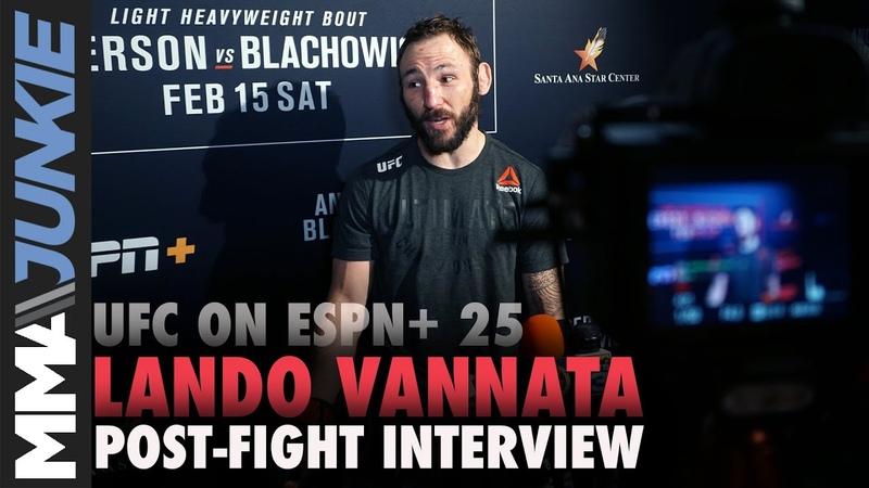 UFC on ESPN 25 Lando Vannata full post-fight interview