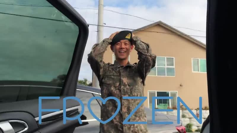Stefanie Michova surprises her boyfriend Beenzino in the Korean Army 스테파니 미초바가 한국 군인 남친 빈지노 놀래켜주기
