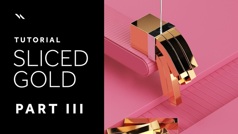 Sliced Gold | Cinema 4D tutorial - Part III - Lighting texturing