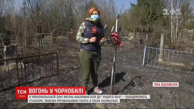 Вогонь у Чорнобильській зоні підходить до Рудого лісу - сталкери