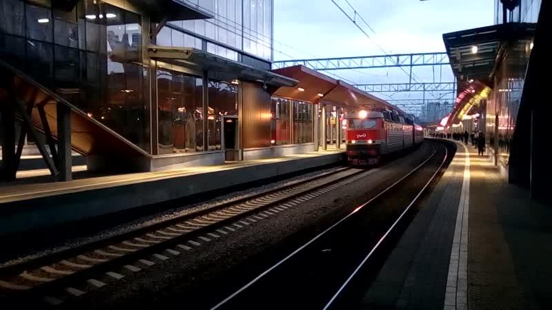 ЧС7 081 с поездом №092И 91И Москва Северобайкальск следует мимо станции Северянин