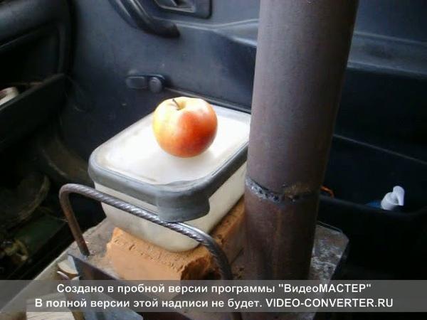 Запрещенная буржуйка в легковом автомобиле
