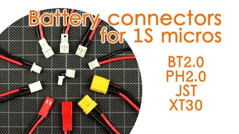 Battery connector showdown BT2 0 vs folded PH2 0 vs solid PH2 0 vs XT30 vs JST