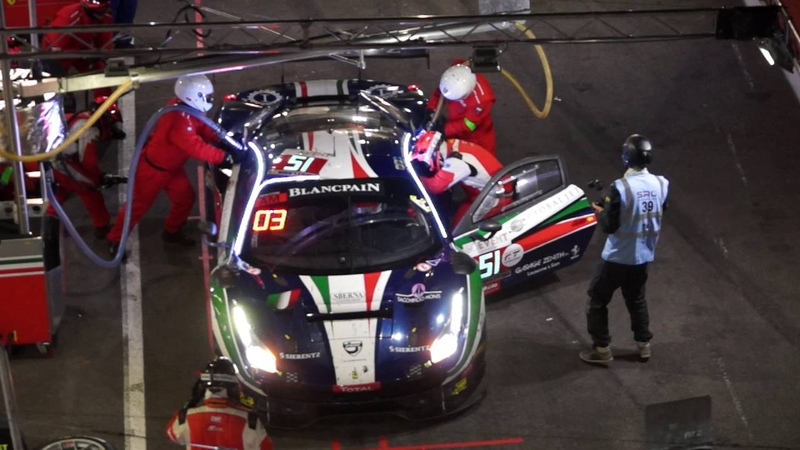 Blancpain GT Series Endurance Cup 2016 24 Hours of Spa pitstop car 51 Ferrari 488 GT3 AF Corse