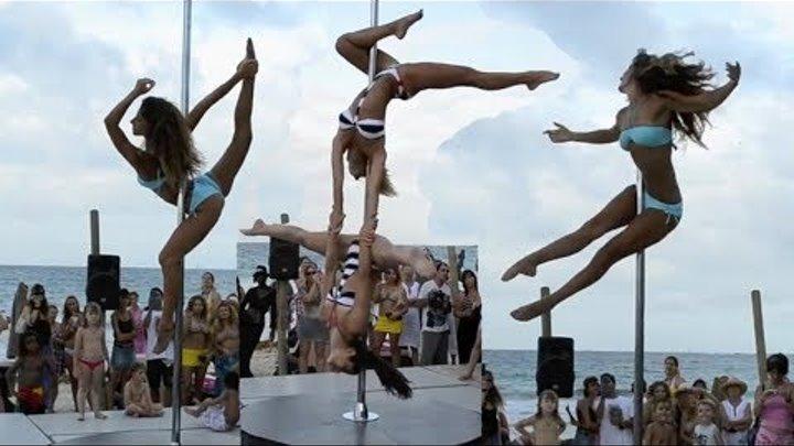 Конкурс танцев на шесте Два танца ТАНЦЫ НА ПИЛОНЕ стрип пластика Pole Dance Show