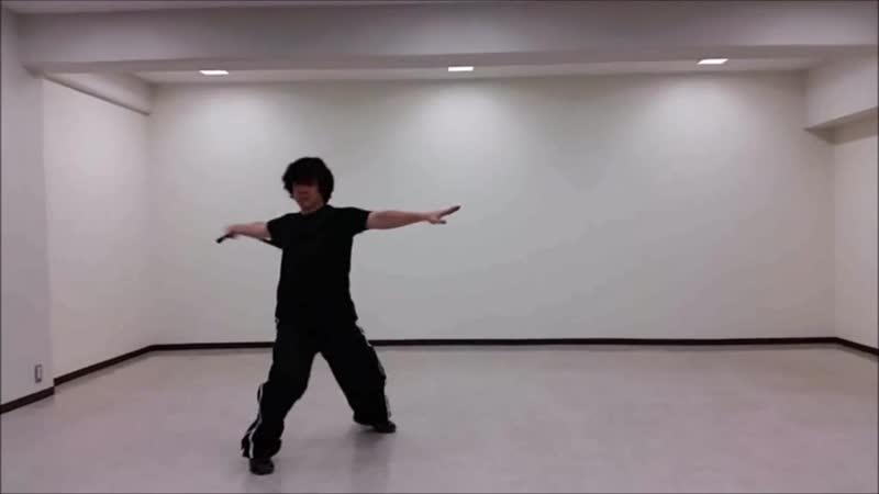 Ryoji Okamoto - Nunchaku practice (Basic combination) Technique (part 3)