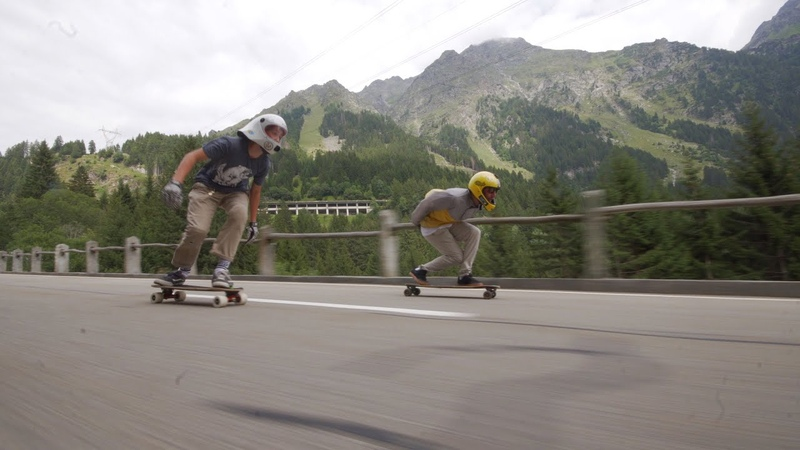 CRANE 3 LAB filming Downhill Skateboarding with Mirko Paoloni and Benjamin Helg