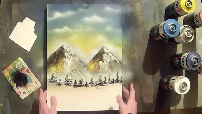 Рисование баллончиками | Обучение | Spray Paint Art Tutorial
