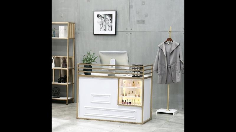 Clothing store cashier modern fashion creative art nail shop bar front desk