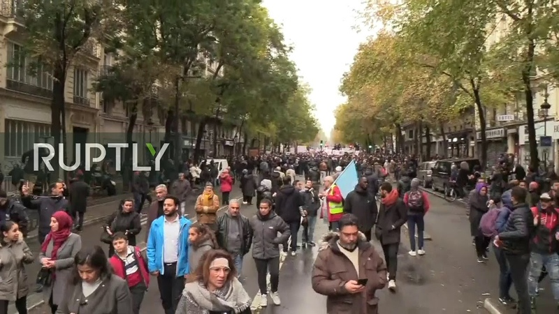 LIVE Hundreds hold march against Islamophobia in Paris