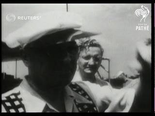 USA: President Truman enjoys fishing vacation in Florida (1949)