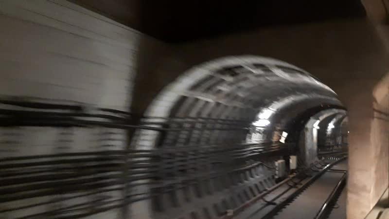 Оборотный тупик станции метро Международная, Петербургский метрополитен.
