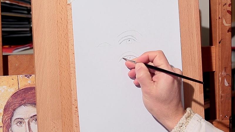 Luce del tuo volto Dipingere il volto di Cristo 4 Dimostrazioni su carta occhi naso bocca
