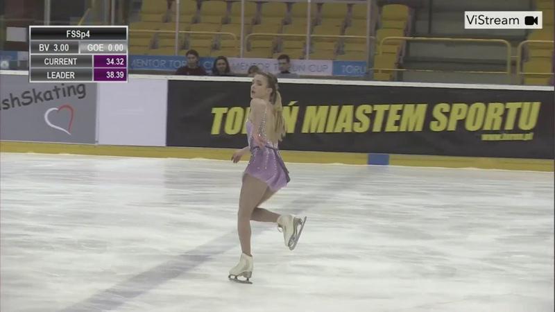 Isadora WILLIAMS BRA Free Skate 2020 Mentor Torun Cup