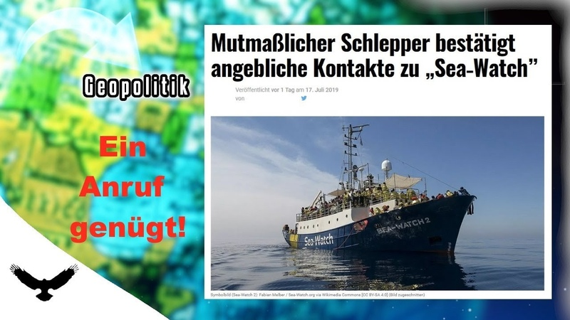 Schlepper BESTÄTIGT Kontakte zu SEA WATCH - Ein Anruf genügt!