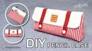 DIY STRIPE PENCIL CASE | Pen Pouch Bag Easy Tutorial sewingtimes