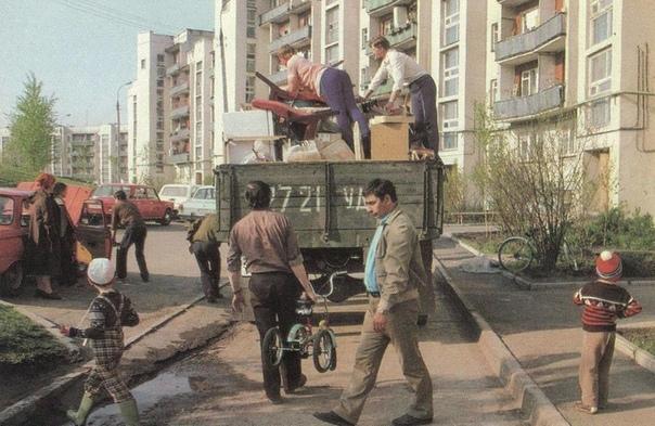 Переезд, 1988 год.... А у вас есть веселая история про переезд