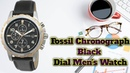 Fossil Chronograph Black Dial Men's Watch🔥🔥🔥