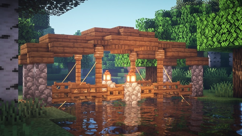 Minecraft: How to Build a Roofed Bridge