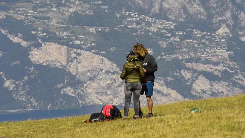 Lake Garda Italy Lago di Garda or Lago Benaco Monte Baldo Paragliding