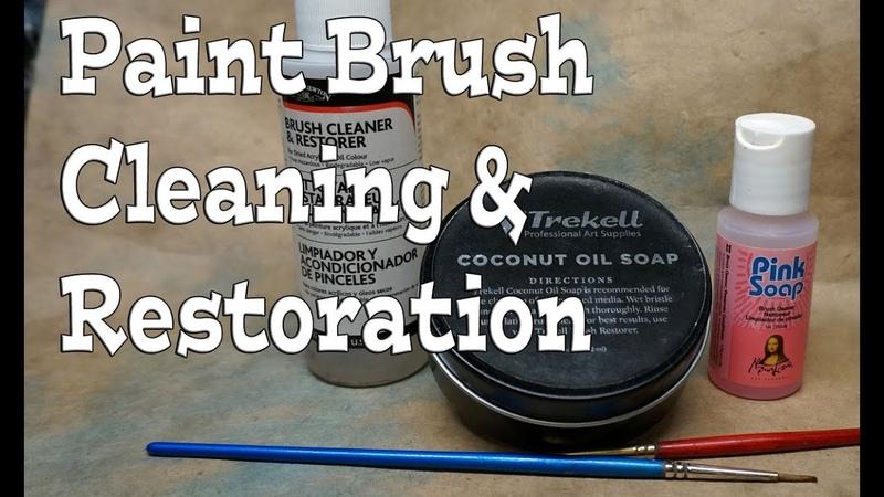 Miniature Paint Brush Cleaning Maintenance