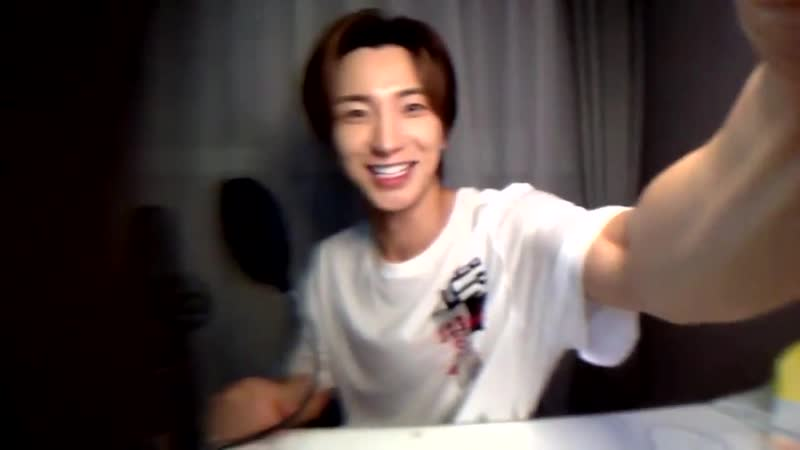 Leeteuk excitedly showing us his camera