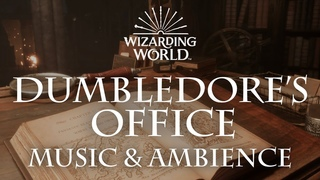 Harry Potter Music & Ambience | Dumbledore's Office - Office Sounds for Sleep, Study, Relaxing