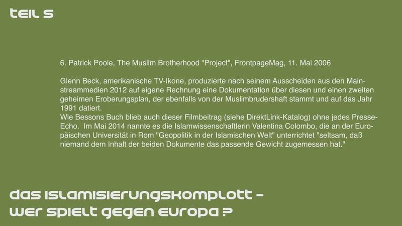 Wolfgang Eggert Das Islamisierungskomplott Die Muslimbruderschaft 5 6
