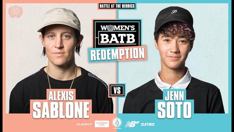 WBATB Finals Redemption Battle Alexis Sablone vs Jenn Soto