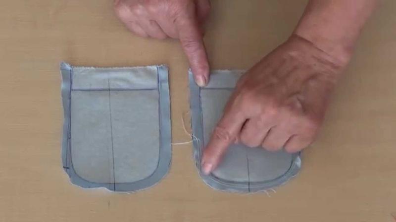 Заготовка накладного кармана с закругленными краями