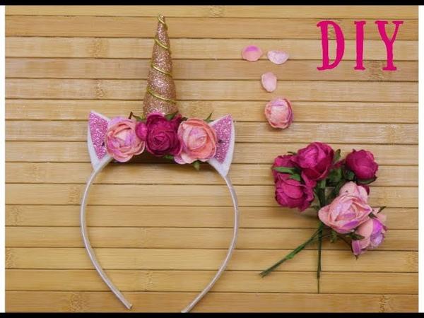 Обруч единорога - украшение для девочки DIY NATAKO