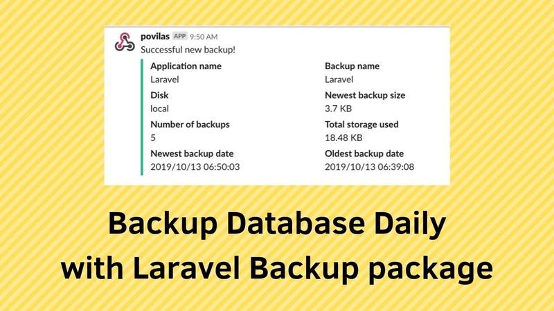 Backup Database Daily with Laravel Backup package