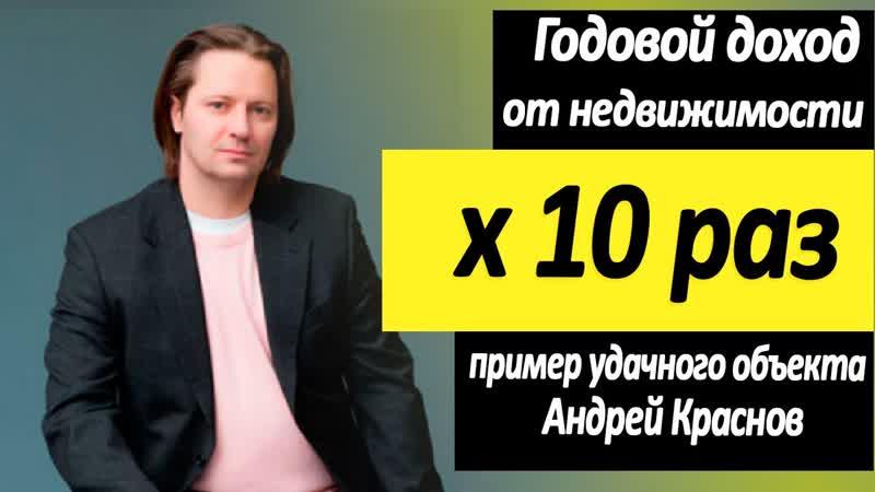 Годовой доход от недвижимости x 10 раз Разбираю пример удачного инвестирования Андрей Краснов