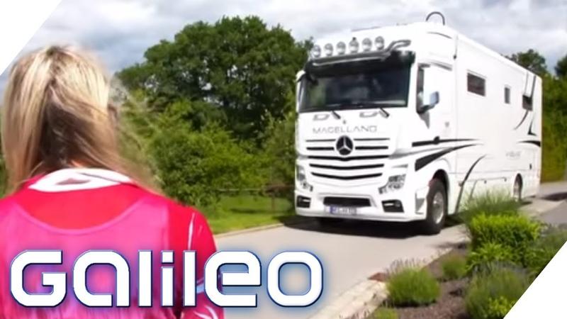 700 000€ Dieser LKW ist ein XXL Luxus Wohnmobil Galileo ProSieben