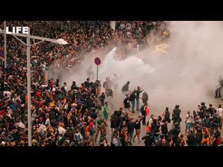 Протесты в Барселоне