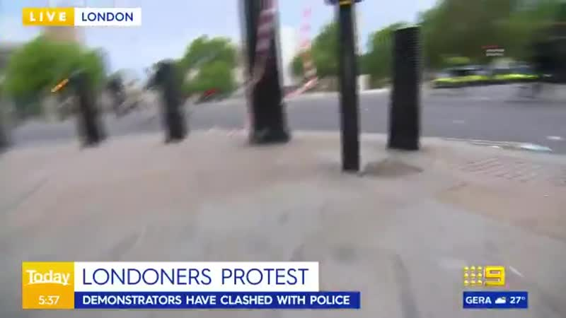 SCUMMEDIA LONDON Are any other news outlets going to report on this camera crew attacked by protesters in London