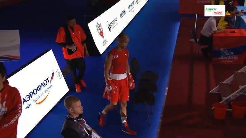 AIBA: World boxing championship welter CUB vs TUR