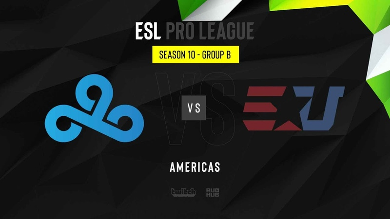 Cloud9 vs eUnited ESL Pro League Season 10 NA map1 de nuke MintGod