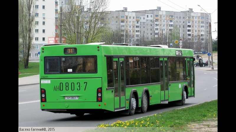 Автобус Минска МАЗ 107 468 гос № АН 0803 7 марш 35 27 11 2019